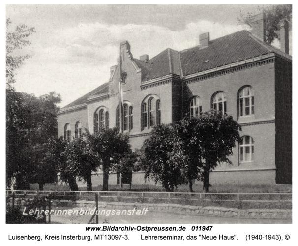 """Luisenberg Kr. Insterburg, Lehrerseminar, das """"Neue Haus"""""""