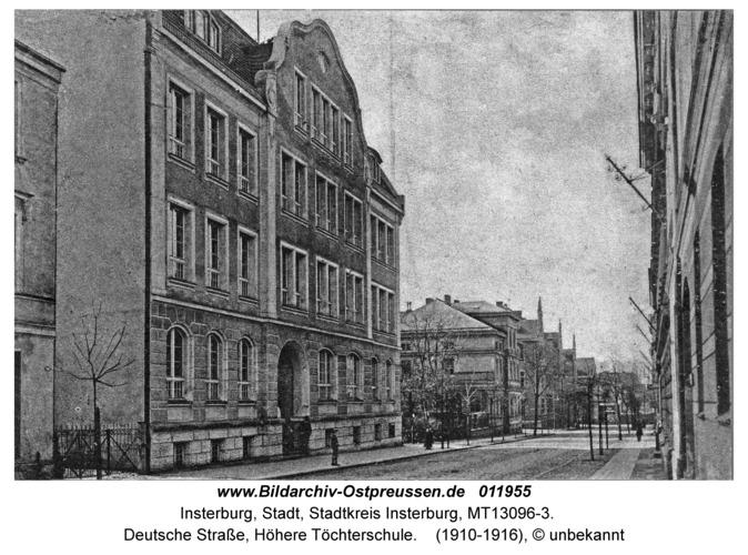 Insterburg, Deutsche Straße, Höhere Töchterschule