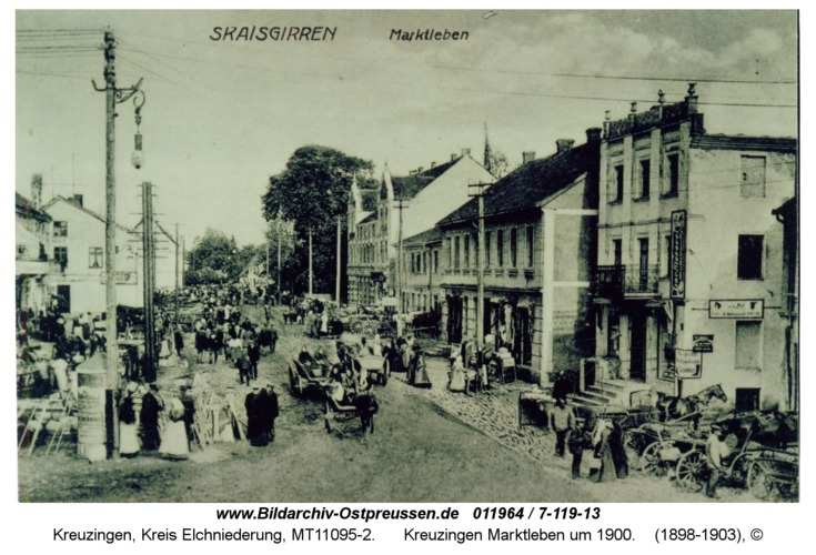 Kreuzingen Marktleben um 1900