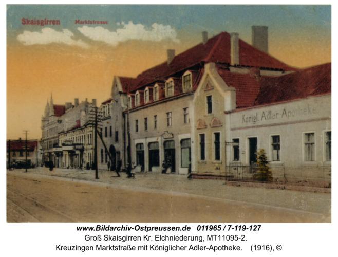 Kreuzingen Marktstraße mit Königlicher Adler-Apotheke