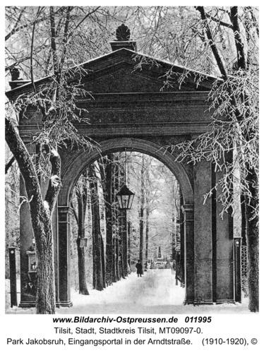 Tilsit, Park Jakobsruh, Eingangsportal in der Arndtstraße