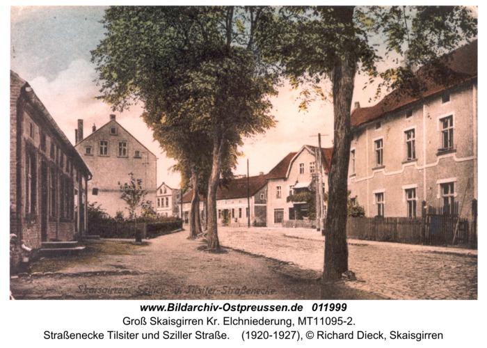 Groß Skaisgirren, Straßenecke Tilsiter und Sziller Straße