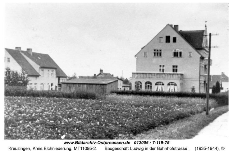 Kreuzingen, Baugeschäft Ludwig in der Bahnhofstraße