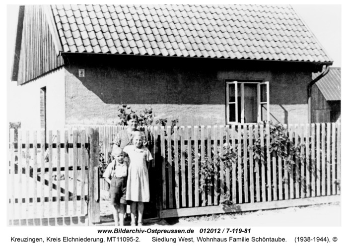 Kreuzingen, Siedlung West, Wohnhaus Familie Schöntaube