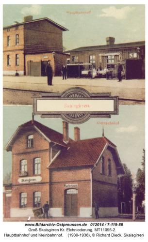 Kreuzingen, Hauptbahnhof und Kleinbahnhof