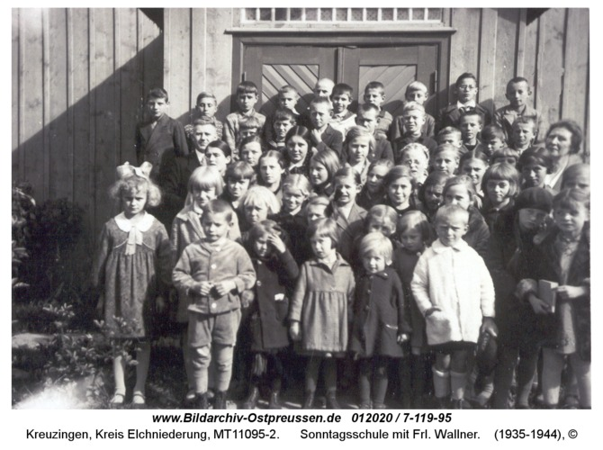 Kreuzingen, Sonntagsschule mit Frl. Wallner