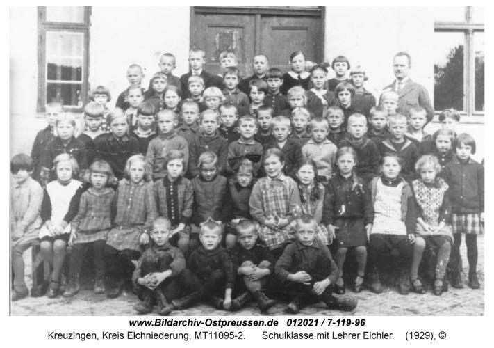 Kreuzingen, Schulklasse mit Lehrer Eichler