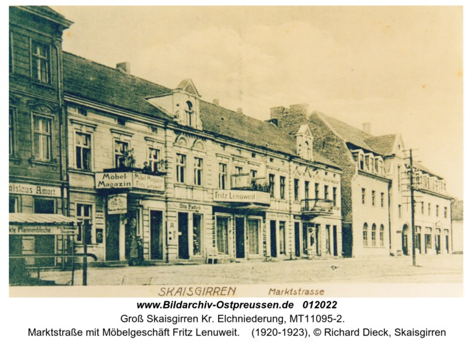 Groß Skaisgirren, Marktstraße mit Möbelgeschäft Fritz Lenuweit