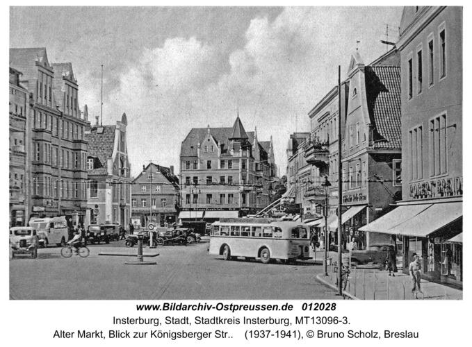 Insterburg, Alter Markt, Blick zur Königsberger Str.