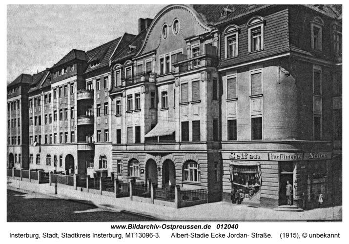 Insterburg, Albert-Stadie Ecke Jordan- Straße