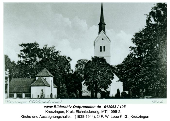 Kreuzingen, Kirche und Aussegnungshalle