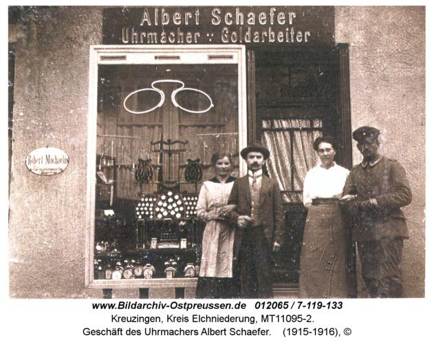 Kreuzingen, Geschäft des Uhrmachers Albert Schaefer