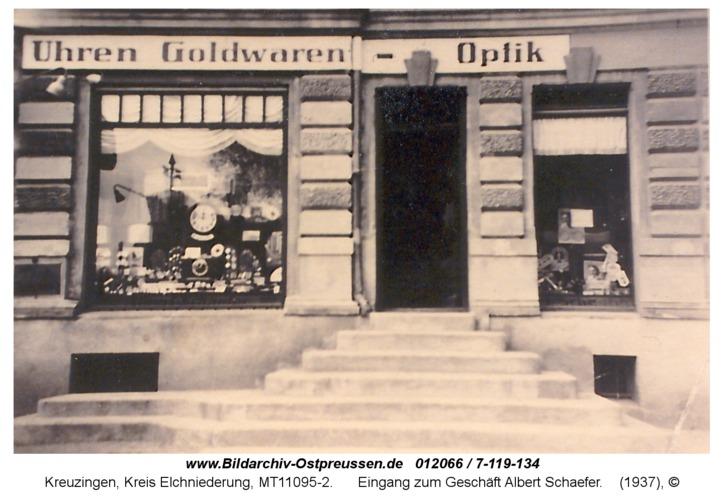 Kreuzingen, Eingang zum Geschäft Albert Schaefer