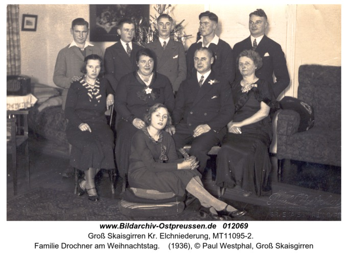 Groß Skaisgirren Kr. Elchniederung, Familie Drochner am Weihnachtstag