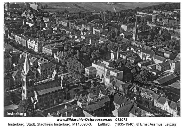 Insterburg, Luftbild