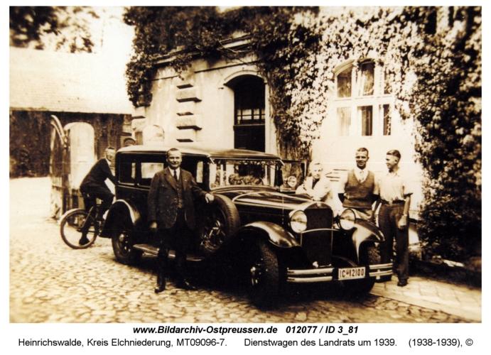 Heinrichswalde, Dienstwagen des Landrats um 1939