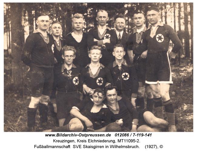 Kreuzingen, Fußballmannschaft SVE Skaisgirren in Wilhelmsbruch
