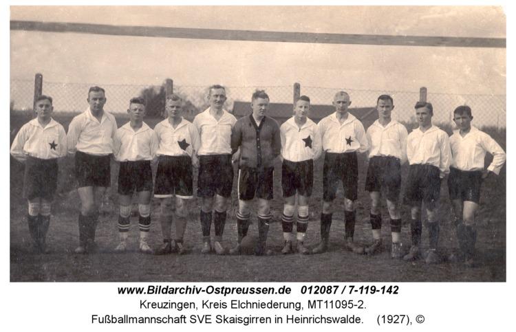 Kreuzingen, Fußballmannschaft SVE Skaisgirren in Heinrichswalde