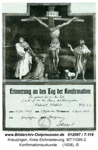 Kreuzingen, Konfirmationsurkunde