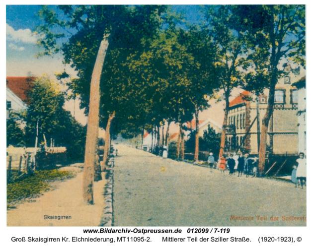 Kreuzingen, Mittlerer Teil der Sziller Straße