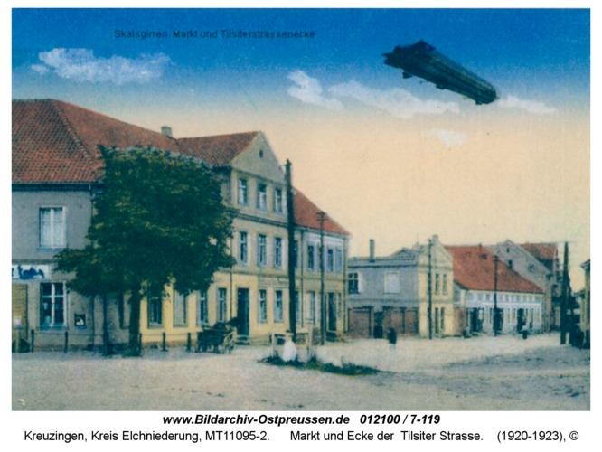 Kreuzingen, Markt und Ecke der Tilsiter Straße