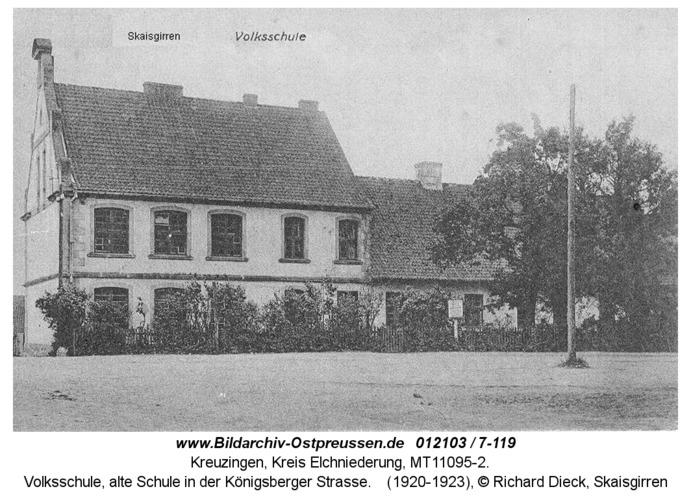 Kreuzingen, Volksschule, alte Schule in der Königsberger Straße
