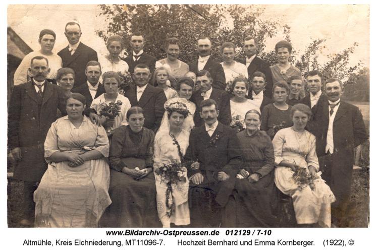 Altmühle, Hochzeit Bernhard und Emma Kornberger
