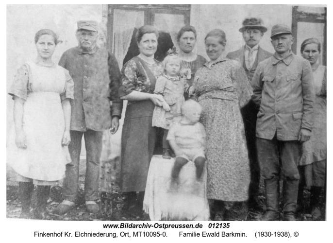 Finkenhof, Familie Ewald Barkmin