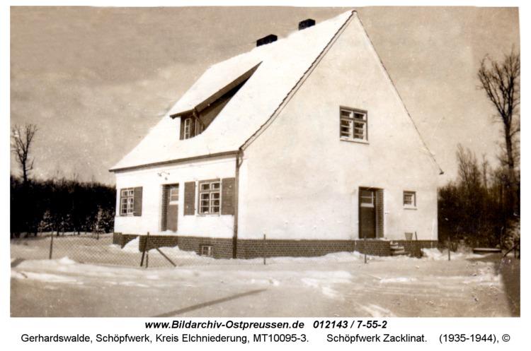 Gerhardswalde, Schöpfwerk Zacklinat