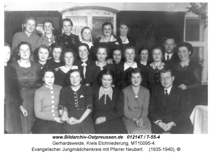 Gerhardsweide, Evangelischer Jungmädchenkreis mit Pfarrer Neubert