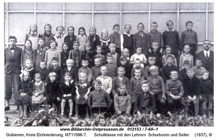Gobienen, Schulklasse mit den Lehrern Schurboom und Seiler