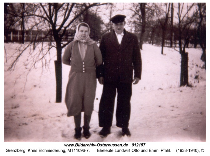 Grenzberg, Eheleute Landwirt Otto und Emmi Pfahl