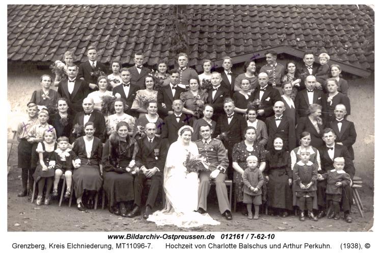 Grenzberg, Hochzeit von Charlotte Balschus und Arthur Perkuhn