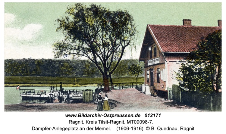 Ragnit, Dampfer-Anlegeplatz an der Memel