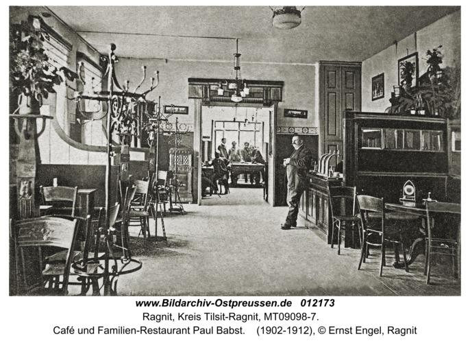 Ragnit, Café und Familien-Restaurant Paul Babst