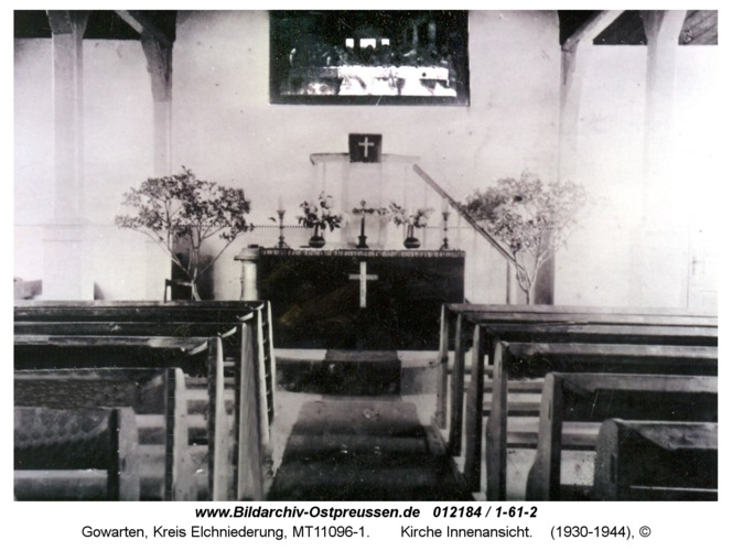Gowarten, Kirche Innenansicht