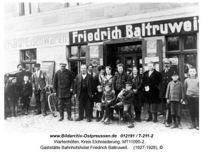 Wartenhöfen, Gaststätte Bahnhofshotel Friedrich Baltruweit