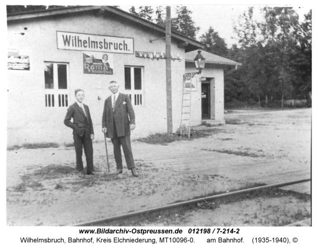 Wilhelmsbruch, am Bahnhof