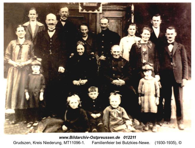Grudszen, Familienfeier bei Butzkies-Newe