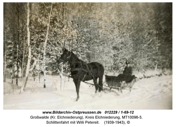Großwalde, Schlittenfahrt mit Willi Petereit