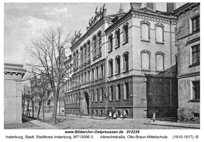 Insterburg, Albrechtstraße, Otto-Braun-Mittelschule