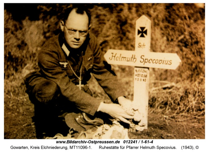 Gowarten, Ruhestätte für Pfarrer Helmuth Specovius