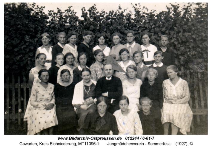 Gowarten, Jungmädchenverein - Sommerfest