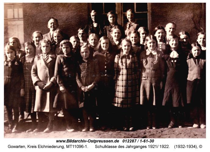 Gowarten, Schulklasse des Jahrganges 1921/ 1922