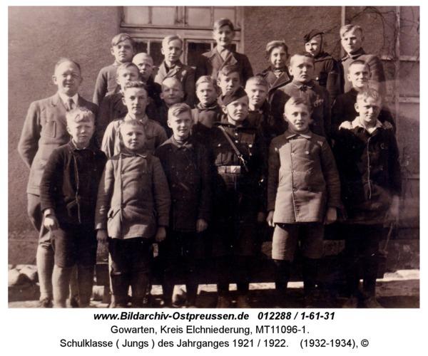 Gowarten, Schulklasse ( Jungs ) des Jahrganges 1921 / 1922