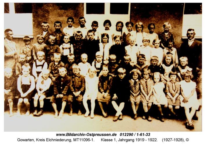 Gowarten, Klasse 1, Jahrgang 1919 - 1922