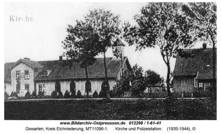 Gowarten, Kirche und Polizeistation