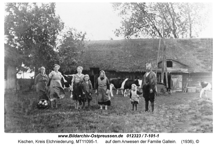 Kischen, auf dem Anwesen der Familie Gallein