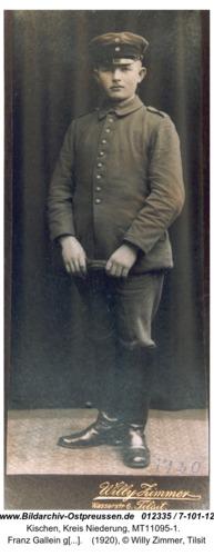 Kischen, Franz Gallein geb. 22.5.1894