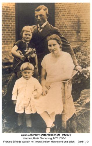 Kischen, Franz u Elfriede Gallein mit ihren Kindern Hannelore und Erich